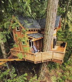 Follow @treehousemovement if you like cool tree houses! Photo via: Pete Nelson #treehousemovement #tinyhousemovement #treehouse by tinyhousemovement