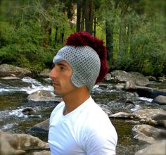 Roman warrior crocheted hat ..hehe #hat #accessories