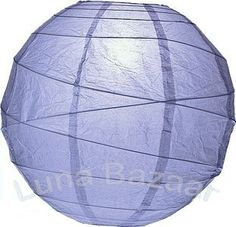 Periwinkle Blue 10 Inch Premium Round Paper Lantern by Luna Bazaar. $3.95. This small blue paper lantern is made with the finest quality rice paper and bamboo freestyle ribbing. As with all our premium paper lanterns, they can be used with most ceiling fixtures and with most light cords for hanging lanterns. They can also be used with our LED battery lights as convenient, cord-free lighting and decoration for parties, weddings, patios, gardens, and outdoor celebrations. (Pleas...