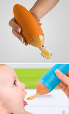 Messy Baby Feeding Spoon Perfect for feeding your baby anytime and anywhere.The Messy Baby Feeding Spoon is great for weaning babies off bottle feeding and breast feeding. Baby Life Hacks, Baby Necessities, Baby Essentials, Baby Arrival, Everything Baby, Baby Needs, Cool Baby Stuff, Baby Stuff Must Have, Babies Stuff