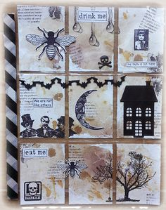 """Halloween Pocket Letter  - save 15% on your next order in the Rubber Dance online store with the code: """"susanne2015""""."""
