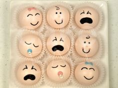baby shower faces cake balls? I need to figure out a recipe for these!