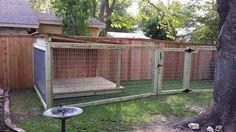 Fence with a dog run