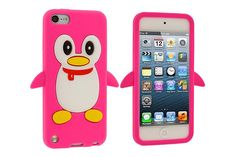 3D Penguin Design Flexible Soft Silicone Rubber Cases for iPod touch 5th Gen | Lagoo Tech