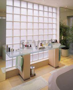 Ladrillo de vidrio cuadrado / elevada permeabilidad luminosa / de pared BASIC : CLEAR 1919/8 SAMBA SEVES GLASSBLOCK