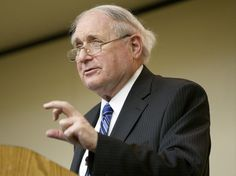 U.S. Sen. Carl Levin speaks to the Holland and Zeeland chambers of commerce legislative luncheon at DoubleTree by Hilton, 650 East 24th St., Holland, Monday, March 12, 2012. (Cory Morse   Mlive.com)