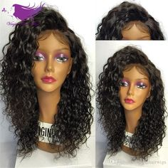 7A Glueless Full Lace Human Hair Wigs Brazilian Kinky Curly Lace Front Human Hair Wigs For Black Women Curly Wigs Online with $72.37/Piece on Virginhairwigs's Store | DHgate.com