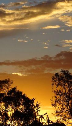 Sunset in Canberra, Australia.