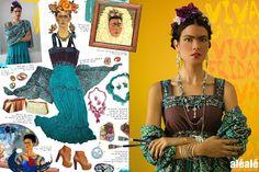 alé alé laboratorio de moda: alé alé Icono de Estilo Frida Kahlo.