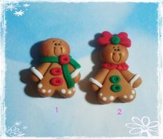 Gingerbread Girl Polymer Clay Charm Bead by rainbowdayhappy, $2.75