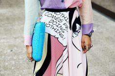 Comic skirt.