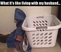 Never in the dirty basket always on the floor