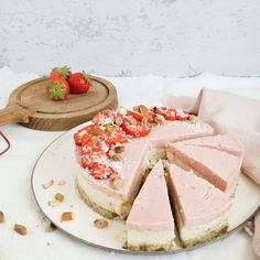 Great Ideas for Making Healthy Cake Recipes Greek Yogurt Cheesecake, Vegan Cheesecake, Cheesecake Recipes, Healthy Cake Recipes, Healthy Treats, Baking Recipes, Healthy Diners, Food Cakes, No Bake Desserts