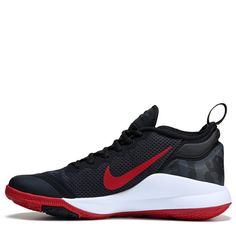 fae0c8fb7fd Nike Men s Lebron Witness II Basketball Shoes (Black White Red) Lebron James