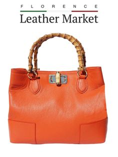 Florence Italy Wooden Handles Italian Leather Marketing Handbags Fashion Accessories
