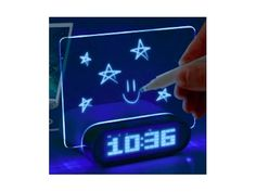 £7.99 for a glow up message alarm clock