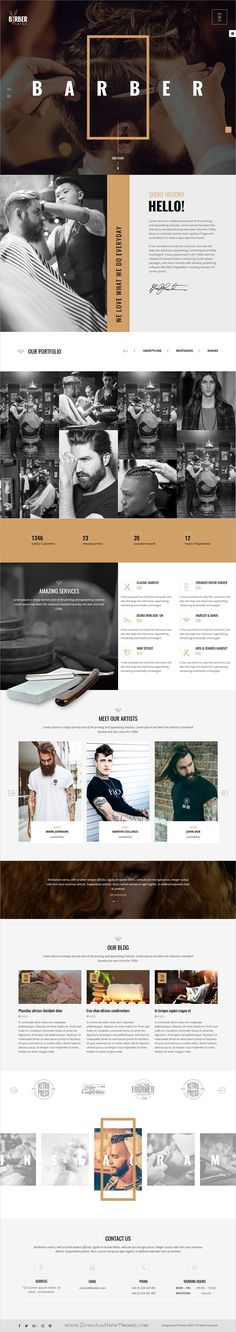 Barber is an elegant and stylish design 10+ responsive #WordPress theme for barbershop, #hairstylist care #salon, beauty, Spa, Tattoo, Nail or health care website download now➩ https://themeforest.net/item/barber-hair-beauty-salons-wordpress-theme/19707741?ref=Datasata