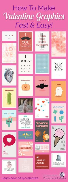 How To Make Valentine Graphics They'll Love. It's Easy!