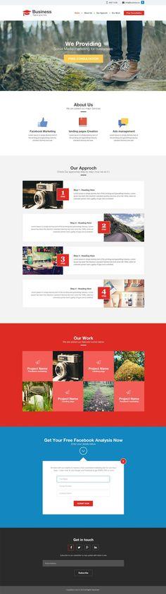 Agency / Business Website #Template #PSD #webdesign