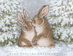 Snow bunnies by darknatasha.deviantart.com on @deviantART