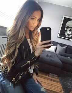 67 best ombre hair color ideas for blond, brown, red and black hair 00086 Best Ombre Hair, Ombre Hair Color, Brown Blonde Hair, Brunette Hair, Black Hair, Clip In Extensions, Great Hair, Gorgeous Hair, Beautiful