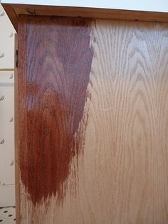 How to stain cabinets darker using minwax polyshades stin and poly in 1 step american chestnut gloss. No sanding