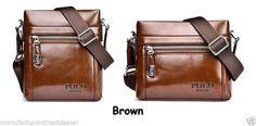 Latest Men Polo Messenger Bag Burglarproof Snap Fastener Bag Faux Leather