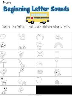 Fun in First Grade - beginning letter sounds
