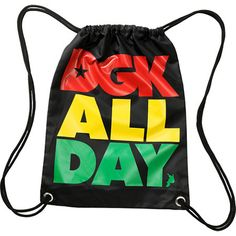 DGK All Day Rasta Drawstring Bag $9.95