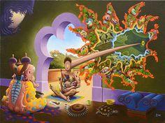 """Interfenestration on the Veranda"" by Jim Woodring"