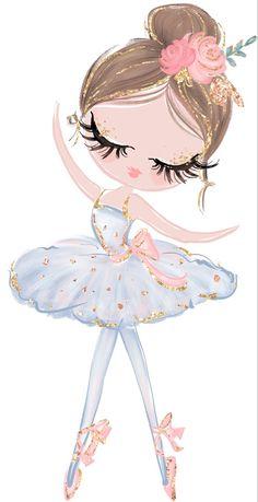 Kids Bedding Sets, Toddler Quilt, Little Ballerina, Ballerina Silhouette, Girl Dancing, Kid Beds, Cute Illustration, Cartoon Wallpaper, Cute Cartoon