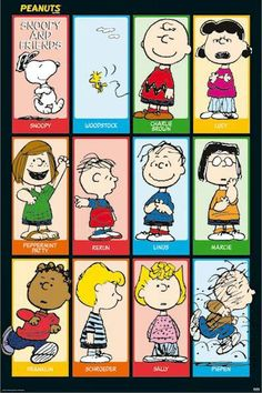 Peanuts - Snoopy & Friends 2 Poster Poster Print, PDecorate your home or office with high quality posters. Peanuts - Snoopy & Friends 2 Poster is that perfect piece that matches your style, interests, and budget. Meu Amigo Charlie Brown, Charlie Brown Und Snoopy, Charlie Brown Christmas, Charlie Brown Cast, Peanuts Christmas, Peanuts Cartoon, Peanuts Snoopy, Peanuts Comics, Schroeder Peanuts