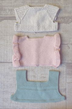 Baby upper side of dresses designed and knitted by I Love Tricoté  Cuerpos…