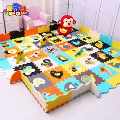 (108.80$)  Watch more here - http://aid7w.worlditems.win/all/product.php?id=32802852617 - Mei qi cool baby play mat animal puzzle mats  Crawling Gym Rug Cartoon Floor Play Mat Baby's Climb Blanket Game Carpet Eva Foam