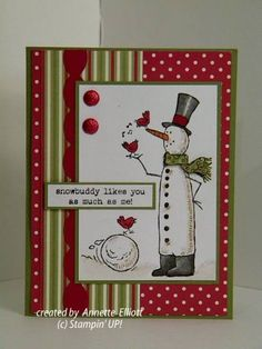 snow friends by AEstamps2 - Cards and Paper Crafts at Splitcoaststampers