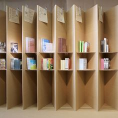 CAMPAIGN, FOLDAWAY BOOKSHOP: cardboard displays, all to be recycled at the end of the pop-up.