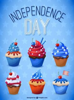 Vector Independence day illustration Free Vector