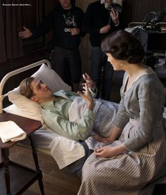 Matthew and Mary // Michelle Dockery and Dan Stevens // behind the scenes of Downton Abbey//