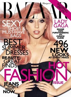 Lady Gagas subtle strawberry hairstyle