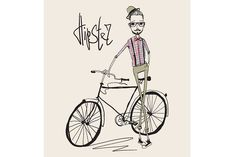 Check out hipster young man with bike by NatalyS on Creative Market Ecology Design, Cargo Bike, Ivory Coast, Papua New Guinea, Young Man, Vector File, Bicycle, Hipster, Design Inspiration