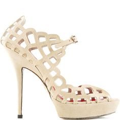 Cesare Paciotti textured leather sandal