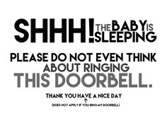 Magnetic sign for front door. Do not knock sign. Baby sleeping sign. This one is only $5.99 on Etsy!!