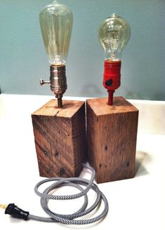 Reclaimed Desk Lamp