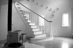 http://browncountyhomeforsale.com/ Beautiful staircase in this brown county private cottage estate