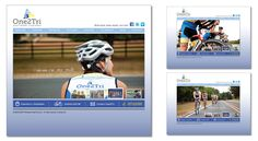 Web design proof - home page and internal page - for One2Tri Multisport [www.one2tri.net].  If pinning, please credit © the-summerhouse.com