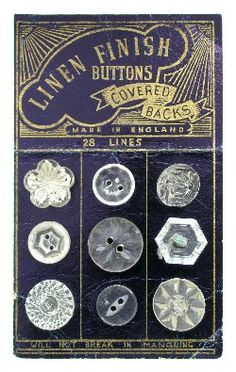 Vintage clear glass buttons  Kate Kessling