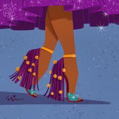 Let's dance! Esmeralda in @louboutinworld Otrot inspired design. #griz #grizandnorm #fanart
