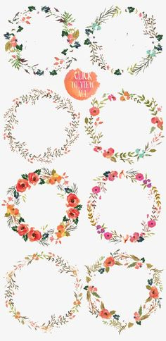 Draw Flowers Watercolor flower DIY pack by Graphic Box on Creative Market Watercolor Flowers, Watercolor Paintings, Drawing Flowers, Tattoo Watercolor, Floral Wreath Watercolor, Watercolor Design, Art Floral, Watercolor Water, Tattoo Flowers