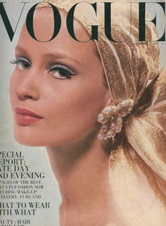 Celia Hammond on the cover of Vogue, 1967.