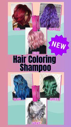Blue Hair, Pink Hair, Curly Hair Styles, Natural Hair Styles, Color Shampoo, Pelo Natural, Hair Dye Colors, Bleached Hair, Grunge Hair